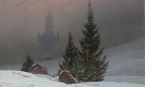 Caspar David Friedrich's Winter Landscape, c.1811.