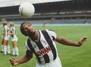 Cyrille Regis juggles a ball at The Hawthorns in 1984.