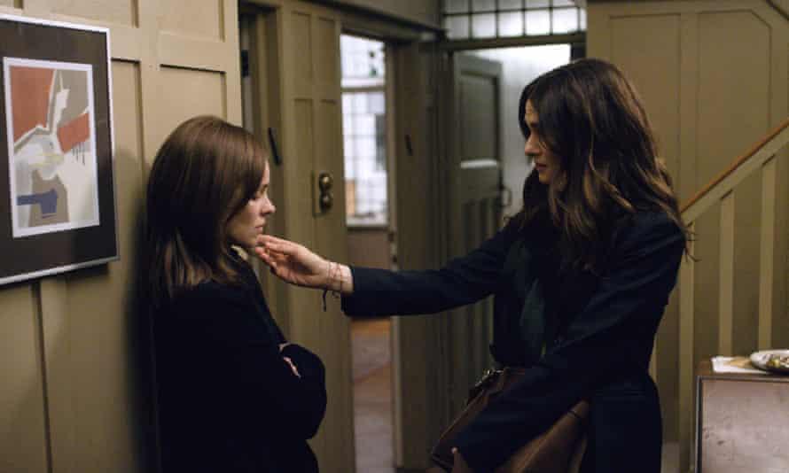 Rachel McAdams, left, and Rachel Weisz in Sebastian Lelio's Disobedience.