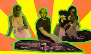 Mandy Harris Williams, left, and Alima Lee, right, founded Rave Reparations to help make dance clubs more black again. Frankie Knuckles, center, is an American DJ credited with popularizing house music.