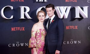 Claire Foy and Matt Smith of The Crown