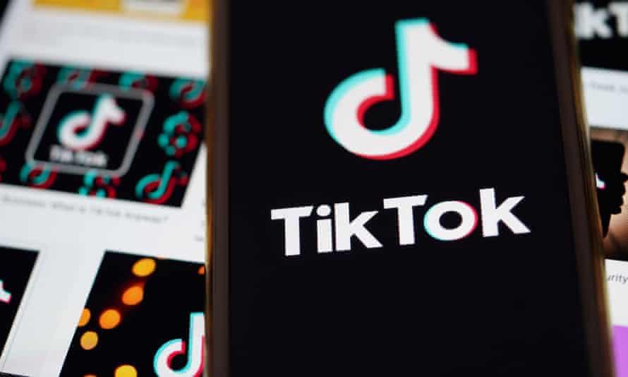 The logo of TikTok