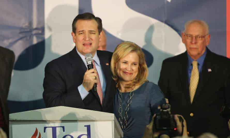 Ted Cruz addresses Iowa supporters after his victory.