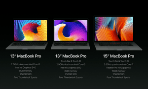 Specs for the MacBook Pros.