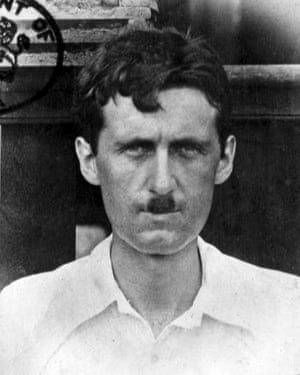 A passport photo of Orwell during his Burma years.