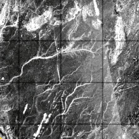 A radar image of the discovered paleo-rivers. Water may last have coursed through the newly discovered network's channels 5,000 years ago.