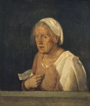 Giorgione: Portrait of an old lady.