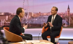 Dominic Raab on the BBC's Andrew Marr Show