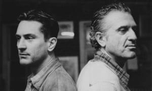 Robert De Niro with his artist father in New York in 1985.