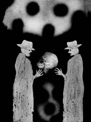 Guardians, 2011, from Roger Ballen's The Theatre of Apparitions.