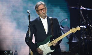 Eric Clapton performs on stage during Music For The Marsden 2020 at the O2 Arena on 3 March in London, England.