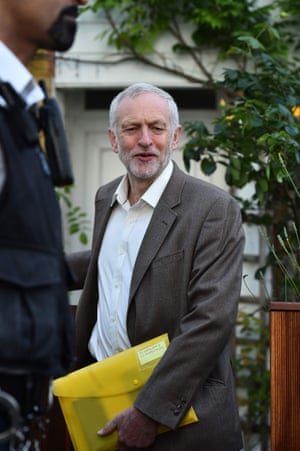 Jeremy Corbyn outside his home this week.