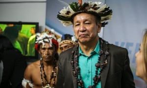 Liborio Guarulla said: 'I am invoking the power of my ancestors and my shamans so that the curse of the Dabukuri falls upon those who have tried to do us evil.'