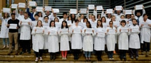 Newcastle University cancer researchers. Now you see them…