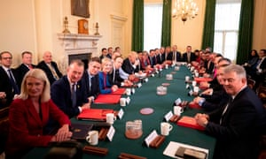 Boris Johnson chairs his first meeting of the cabinet the day after a reshuffle.