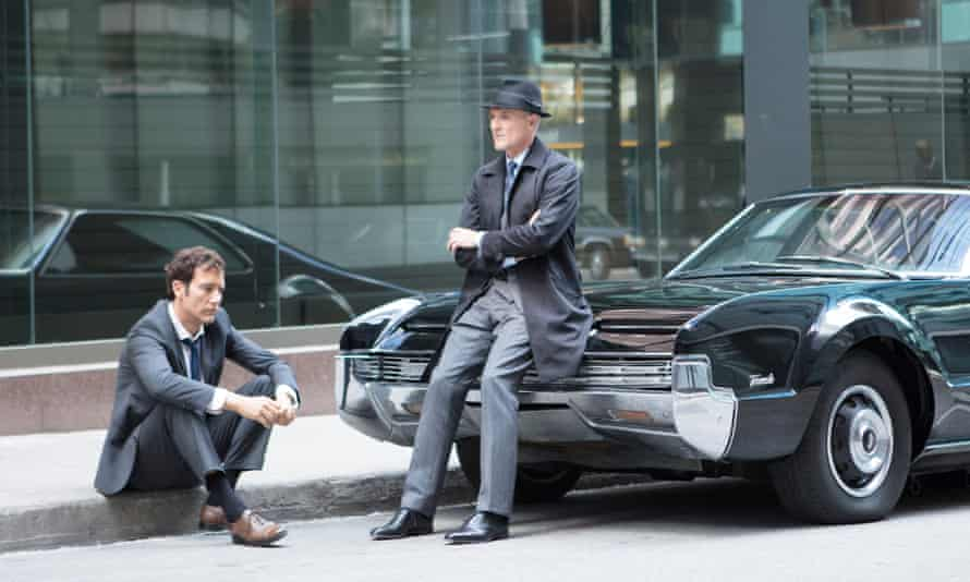 Clive Owen and Colm Feore in Anon, directed by Andrew Niccol.