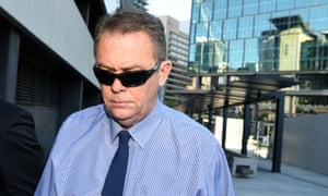 Neil Punchard leaves court in Brisbane in September.