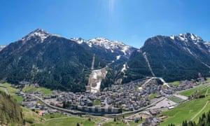 The ski resort Ischgl in April.
