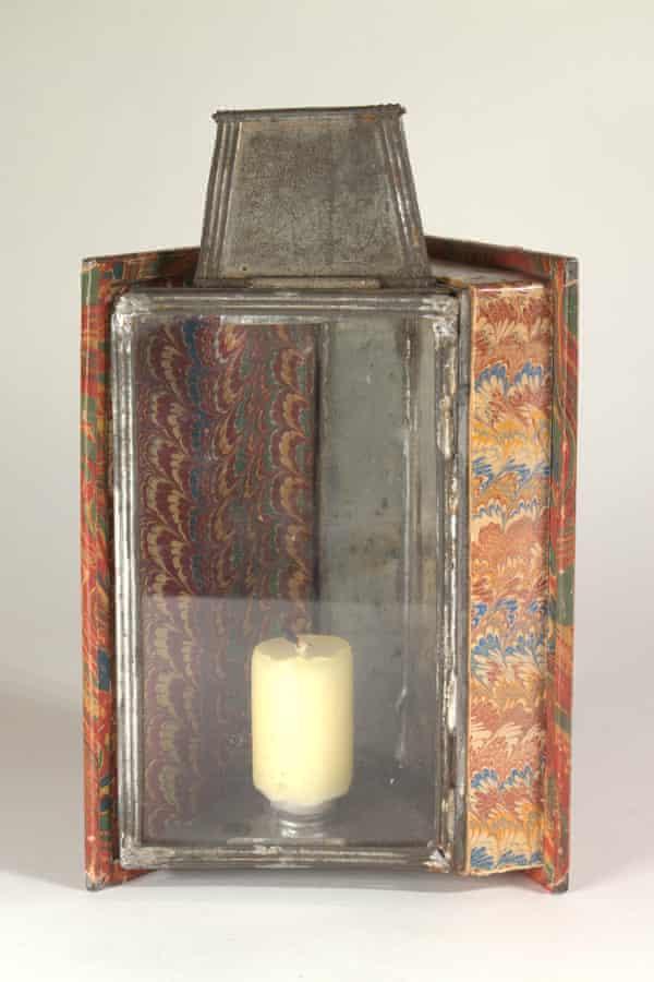 A book-shaped pocket-lantern, circa 1830.