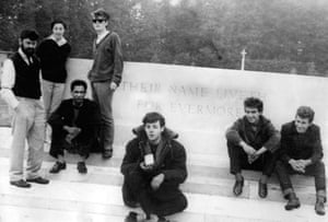 Allan Williams, his wife, Beryl, Lord Woodbine, Stuart Sutcliffe, Paul McCartney, George Harrison and Pete Best
