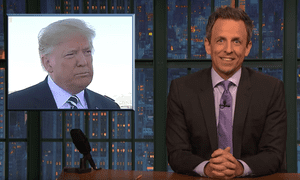 'I'll give Trump credit for one thing: he doesn't overwhelm you with the details' ... Seth Meyers