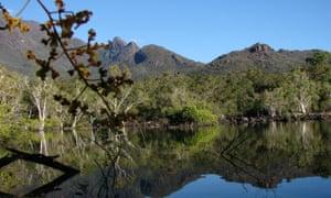 A lagoon at Little Ramsay Bay in Hinchinbrook Island, Australia.