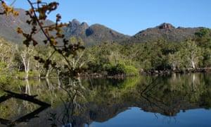 A lagoon at Little Ramsay Bay in Hinchinbrook Island, Queensland.