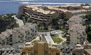 Holiday homes on Spain's Costa del Sol in 2007: building stopped the following year after the credit crunch.