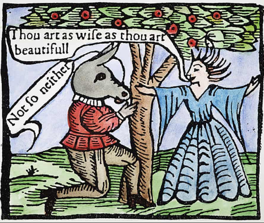 The courtship of Titania and Bottom: woodcut, English, early 17th century, for A Midsummer Night's Dream