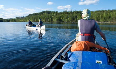 Canoe on Klarälven. Sweden
