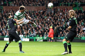 Sinclair heads goalwards.