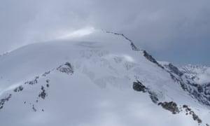 The Pigne d'Arolla mountain, near Sion in Switzerland.