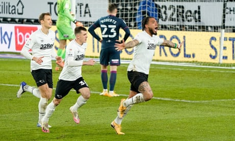 Championship roundup: Derby beat Swansea in first home victory of the season