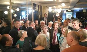 Nigel Farage at the Sugar Hut in Brentwood, Essex.