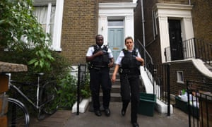 Police on Sunday visiting the London home of Dominic Cummings