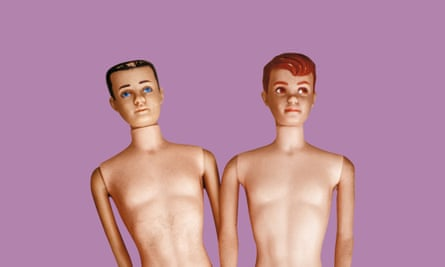 Two male dolls with bare chests