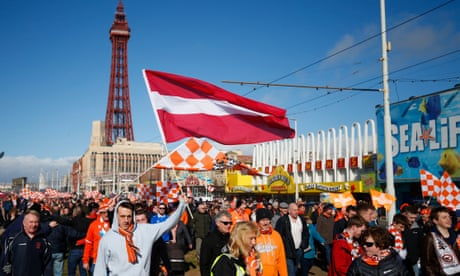 Football League: Blackpool fans return to celebrate dramatic equaliser