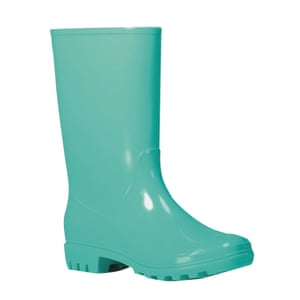 Turquoise wellington boot from Asda