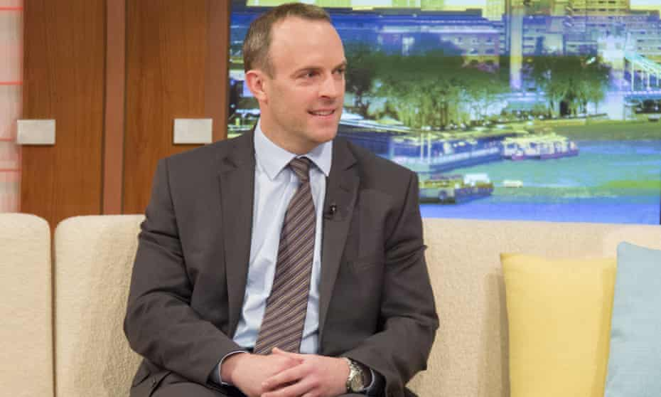 Dominic Raab, whose comments were today criticised by Theresa May.