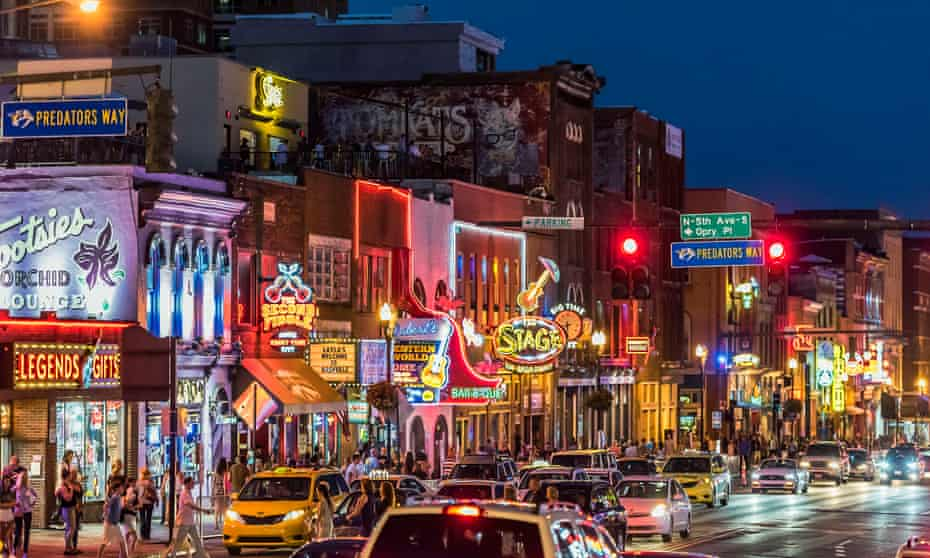 Country music bars on Nashville's Broadway.