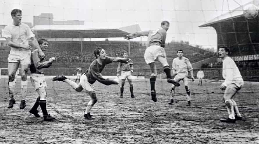 alex ferguson scores for rangers in a 5-0 league win at home against stirling albion in march 1968.