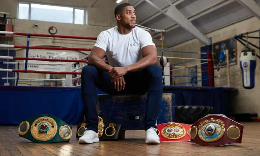 World heavyweight champion Anthony Joshua was in north London on Tuesday back at Finchley ABC, the club where he started out as a teenager.