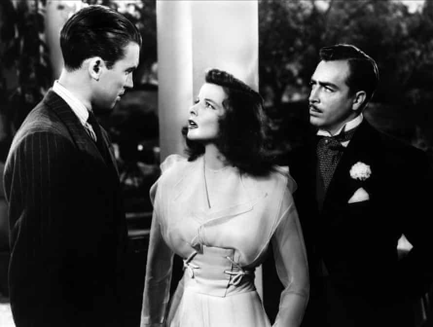 James Stewart, Katharine Hepburn and John Howard in The Philadelphia Story.