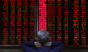 Shares in China were under pressure on Tuesday after a sharp fall in tech stocks in the US.