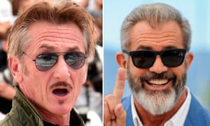 Defining times … Sean Penn and Mel Gibson, who star in a forthcoming biopic of the creators of the Oxford English Dictionary.