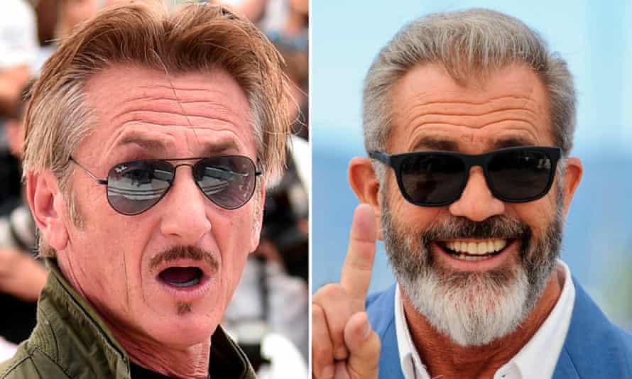 Stranger than diction ... Sean Penn and Mel Gibson.