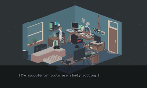 'I don't really like seeing clean rooms in games. It's always so nice to see, like, paper scattered everywhere. Pens on desks. Not neat at all.'