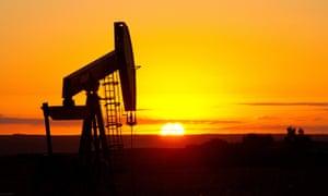 An oil well jack near Tioga, North Dakota