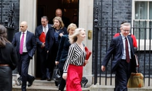 Cabinet ministers leave No 10