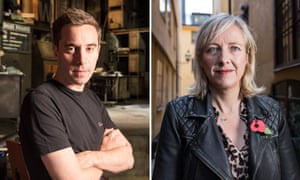 James Graham, left, and Carol Cadwalladr of the Guardian.
